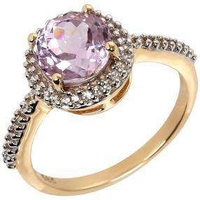 Ring 585 Gelbgold Kunzit