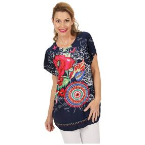Oversize-Damen-Shirt 'Arta' multicolor