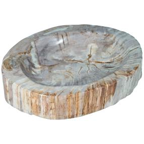 Schale Fossiles Holz, ca. 2,5 kg