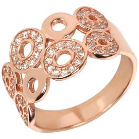 Ring Zirkonia 925 Silber rosé