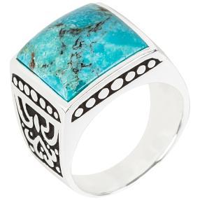 Ring 925 Sterling Silber Türkis rekonstruiert
