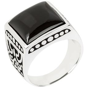 Ring 925 Sterling Silber Onyx