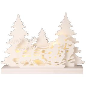 LED-Holzsilhouette Rentier