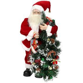 Weihnachtsmann mit Baum