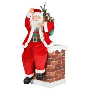 Weihnachtsmann auf Kamin 90cm