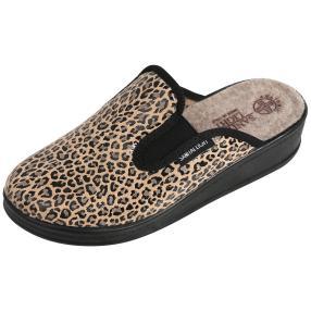 SANITAL LIGHT Damen-Hausschuhe Leopard beige