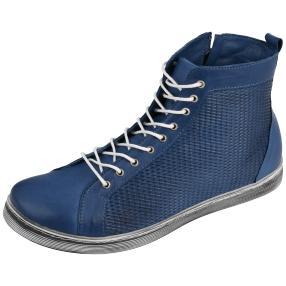 Andrea Conti Lederstiefelette jeansblau