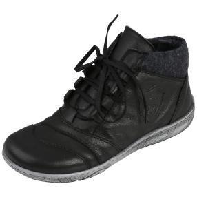 Andrea Conti Damen-Lederstiefelette schwarz
