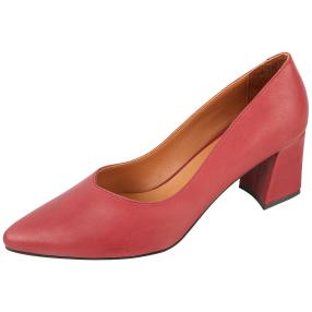 CALVIN SMITH Damen-Lederpumps bordo