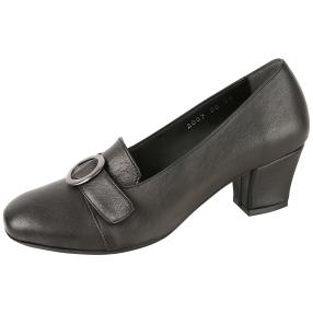 CALVIN SMITH Damen-Lederpumps schwarz