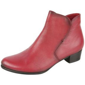 CALVIN SMITH Lederstiefelette bordo