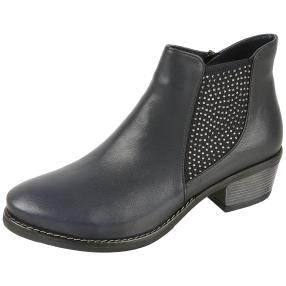 CALVIN SMITH Lederstiefelette navy