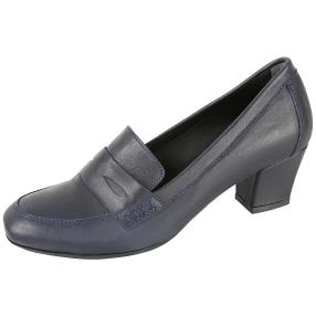 CALVIN SMITH Damen-Lederpumps dunkelblau