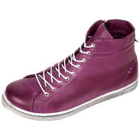 Andrea Conti Lederstiefelette violett