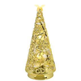 LED-Glitterpyramide gold 30cm