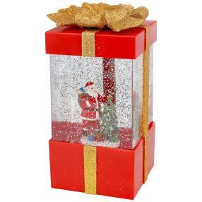 LED-Glitterdeko Santa