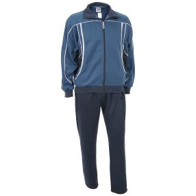 Herren-Jogginganzug blau/dunkelblau/weiß