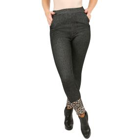 Antonio Lady-Jeans-Leggings 'Leopard' schwarz