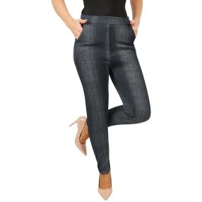 Antonio Lady-Jeans-Leggings 'Teddy' dunkelblau