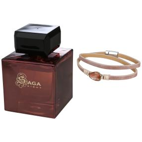 Saga Night women EdP 100 ml + Armband Strass Stein