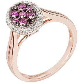 Ring 585 Roségold Brillant Purple