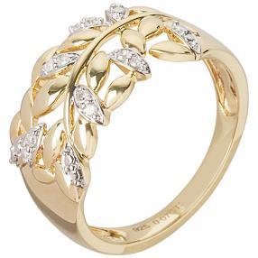 Ring 925 Sterling Silber vergoldet Diamant