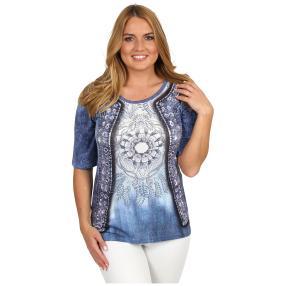 BRILLIANT SHIRTS Shirt 'Blue Shades' multicolor