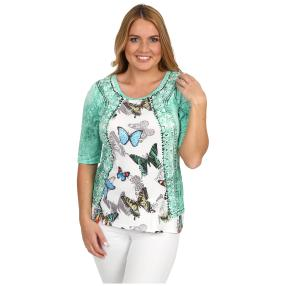 BRILLIANTSHIRTS Shirt 'Butterflies' multicolor