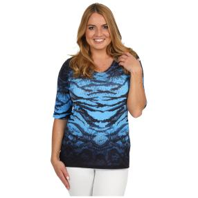 BRILLIANTSHIRTS Shirt 'Wild Blue' schwarz/blau