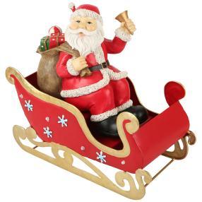 Santa im Schlitten