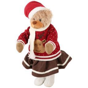 Weihnachts-Bär mit Rock 55cm