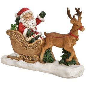 Weihnachtsmann auf Schitten