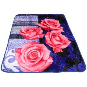 WinterDreams Kuscheldecke blau-pink