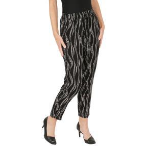 Leichte Damen-Sommer-Hose schwarz
