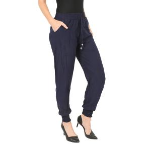 Leichte Damen-Sommer-Hose blau