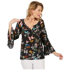 Damen-Tunika 'Savina' Häkelspitze multicolor