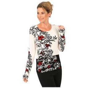 MILANO Design Pullover 'Marzara' schwarz/weiß/rot