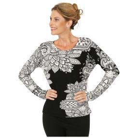 MILANO Design Pullover 'Levanzo', schwarz/weiß