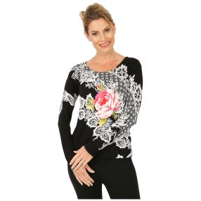 MILANO Design Pullover 'Lacona', schwarz/multi