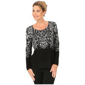 MILANO Design Pullover 'Olbia' schwarz/grau