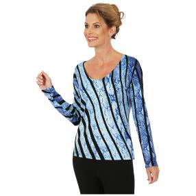 MILANO Design Pullover 'Sassari' schwarz/blau