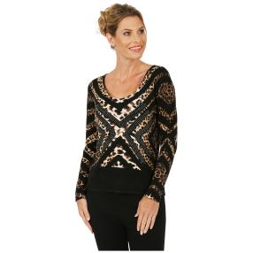 MILANO Design Pullover 'Padua' schwarz/braun