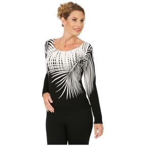 MILANO Design Pullover 'Novara' schwarz/weiß