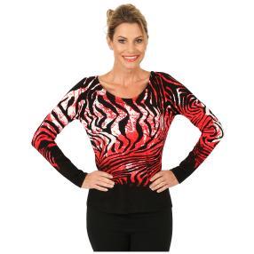 MILANO Design Pullover 'Marola' schwarz/rot