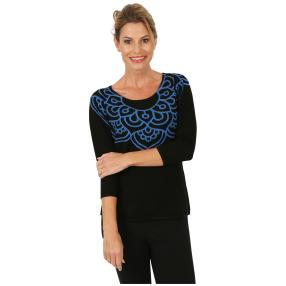 MILANO Design Pullover 'Basati' schwarz/blau