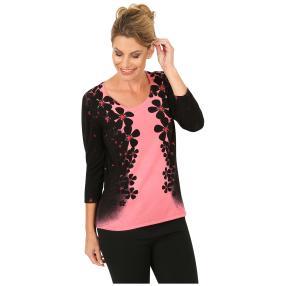 MILANO Design Pullover 'Rivio' schwarz/rose