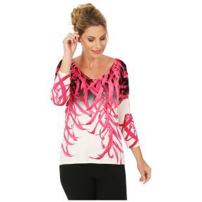 MILANO Design Pullover 'Norma' schwarz/weiß/pink