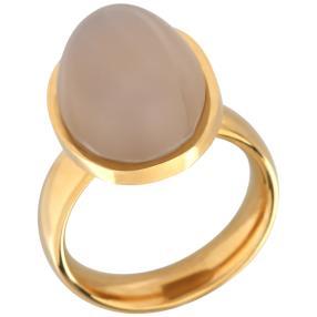 Ring Achat vergoldet Edelstahl