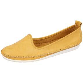 Andrea Conti Damen Lederslipper, gelb