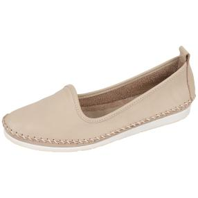 Andrea Conti Lederslipper helles Taupe
